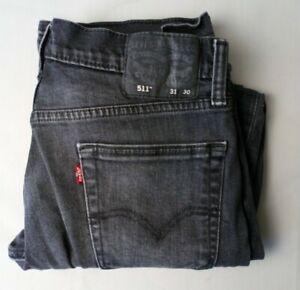 Mens Levi 511 Grey Denim Jeans W 30 L 28