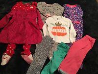 Lot Of 8 Girls Size 2T Sleepers Pumpkin Leggins Tops Free Shipping