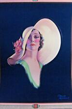 """R. Wilson Hammell Art Deco Pin Up Art 11"""" x 14 1/2"""""""
