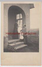 (f4580) ORIG. foto persone M. BABY prima casa ingresso, colonia 1913