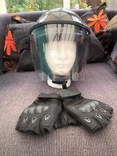 Police Tatical Riot Helmet + gloves