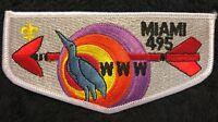 OA MIAMI LODGE 495 MIAMI VALLEY COUNCIL FL BSA PATCH CRANE 1970s SERVICE FLAP