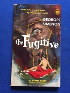 THE FUGITIVE - 1ST. AM. PAPER ED. INSCRIBED BY GEORGES SIMENON TO HIS PUBLISHER