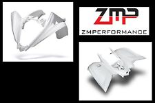 NEW YAMAHA RAPTOR 700 13 - 16 WHITE CARBON FIBER PLASTIC FRONT AND REAR FENDERS