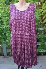 NEW Burgundy PRINT DRESS Size 18 Piper for Myers RRP $129.99. Quality - Trendy.