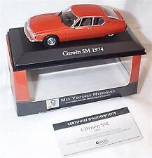 CITROEN SM MODEL CAR 1:43 SCALE 1974 IXO ATLAS 2891008 VOITURES MYTHIQUES