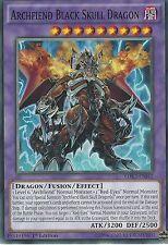 3 X YU-GI-OH CARD: ARCHFIEND BLACK SKULL DRAGON - LDK2-ENJ42 1ST EDITION