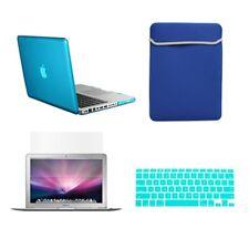 "4 in1 Crystal AQUA Case for Macbook PRO 13""+Keyboard Cover+LCD Screen+Sleeve Bag"