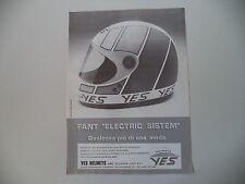 advertising Pubblicità 1982 CASCO YES HELMETS
