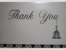 "Metallic Gold Bell Ornament ""Thank You"" Note Cards w/ Envelopes"