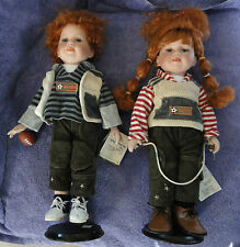 Duck House Heirloom Dolls Red Head Twins Sports Dolls