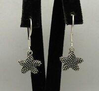 Kleine Sterling Silber Ohrringe Seesterne massiv punziert 925 handgefertigt