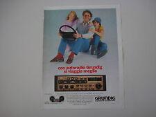 advertising Pubblicità 1982 AUTORADIO GRUNDIG WKC 2837