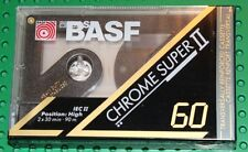 BASF  CHROME SUPER  II   60   BLANK CASSETTE TAPE (SEALED)