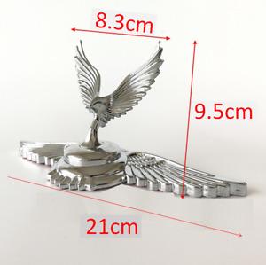 3D Metal Chorme Eagle Hawk Wing Car Truck Hood Stand Ornament Badge Emblem Decal