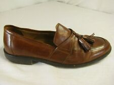 Johnston and Murphy 8 Brown Leather Tassel Shoes Loafers