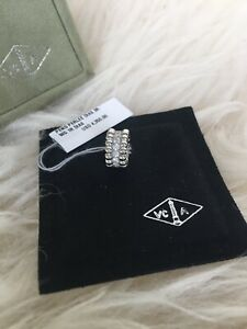 Auth Van Cleef & Arpels 18K White Gold Perlee Diamond Pendant - NEW w/ Tag