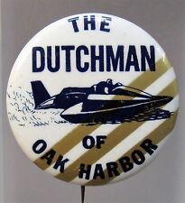 1967 THE DUTCHMAN diagonal stripes 3 to 6 Hydroplane pinback button STRAIGHT PIN