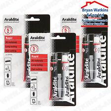 3x Araldite Rapid 2 parte Resina de epoxy Adhesivo establece en 5 minutos para la reparación rápida