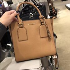 Michael Kors Saffiano Leather Selby Messenger Satchel Color- Acorn $258