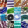 6/8/10mm RONDELLE CRYSTAL GLASS BEADS WHOLESALE LOTS RONDELLE FACETED 2018 DIY
