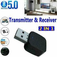 Bluetooth V5.0 Sender und Empfänger 2 in1 Wireless Adapter I0N5 3.5mm Audio O6K8