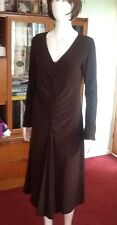 Brown long sleeved dress by Linea size medium