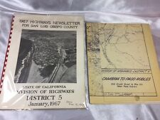 1967 HIGHWAYS NEWSLETTER FOR SAN LUIS OBISPO COUNTY, DIV.OF HIGHWAYS DISTRICT 5