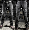 Pants Motorcycle Motorbike Mens Jeans Biker Leather Trousers Cowhide Black Lace