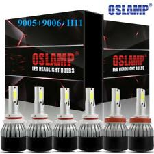 9005 + 9006 + H11 C6 OSLAMP LED Headlights Hi/Low Beam Bulb 6000K Fog Light Lamp