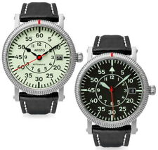 Aristo Ø 38mm Sport piloto dayflight Nightflight zafiro vidrio swiss Automatic 5 ATM