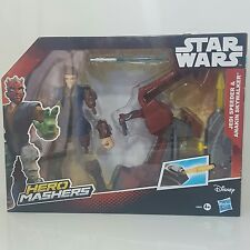 Disney Hasbro Star Wars Hero Masher JEDI SPEEDER and ANAKIN SKYWALKER =present?