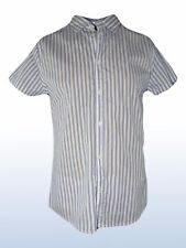 brooks ltd camicia uomo bianco righe azzurro taglia m medium manica corta cotone