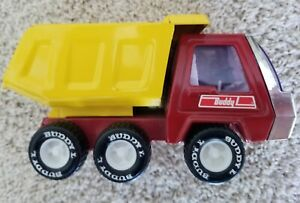 Vintage Buddy L Mini Metal Dump Truck Red & Yellow 1980's - Amazing Condition