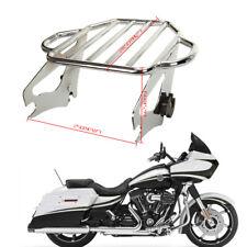 Motorrad Silber Montage Gepäckträger für 2009 - später Harley Davidson Touring