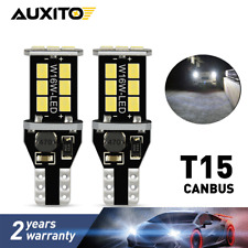 2X AUXITO 921 912 T15 LED Reverse Lights Bulb CANBUS Error Free White 15E US EDO