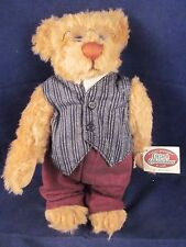 "GANZ Cottage Collectibles Teddy Bear Mr Bearister 12"" 1999 By Lorraine NEW TAG"