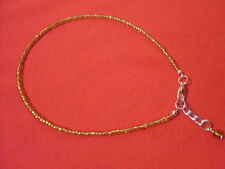 adjustable seed bead anklet/ankle bracelet/summer beach boho hippy love crystal