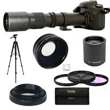 TELEPHOTO ZOOM LENS 500-1000MM +FISHEYE MACRO LENS FOR CANON EOS REBEL DSLR