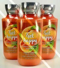3 Bath Body Works*Get Happy White Peach Sangria*Lotion Cream*Free Priority Ship!