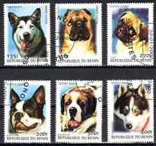 Chiens Bénin (5) série complète de 6 timbres oblitérés