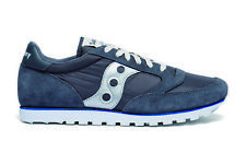 Saucony S2866-251 Men's Jazz Low Pro Sneakers - Grey / Blue / Silver - US 8