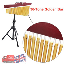 More details for 36 bar chimes musical bell percussion instruments with tripod stand & striker