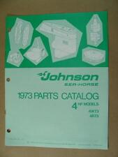 1973 JOHNSON 4 HP MODELS 4W73 4R73 OUTBOARD MOTOR ENGINE PARTS CATALOG 386130