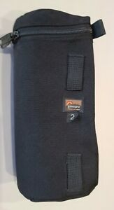 """Lowepro 2 Lens Case Black Inside Dimensions 3.5"""" x 7.75"""" Slightly Used Condition"""
