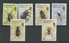 (W0394) INSECTS, FALKLAND ISLANDS DEP., SET, MM/MH, CAT. HIGH, SEE SCAN