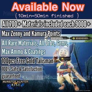 Monster Hunter Rise2.0(Switch Save Edit)Custom God Talisman & UNLOCK everything