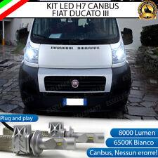 KIT LED H7 CANBUS FIAT DUCATO MK3 8000 LUMEN 6500K ANABBAGLIANTE NO ERRORE