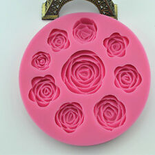 Rose Flower Shape Silicone Mould for Polymer Clay Candy Cake Fondant mold 1pc