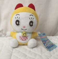 "Dorami 6"" Plush Yellow Girl Red Bow Flower Tail Front Pocket Doraemon Friend"